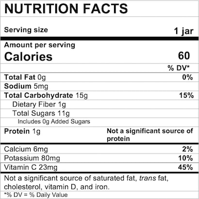 Nutrition Facts Apple Wild Blueberry