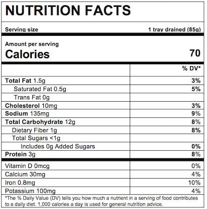 Nutrition Facts Cheese & Spinach Ravioli