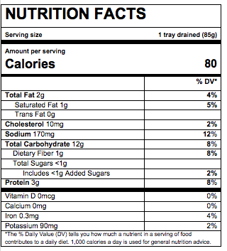 Nutrition Facts Beef & Tomato Ravioli