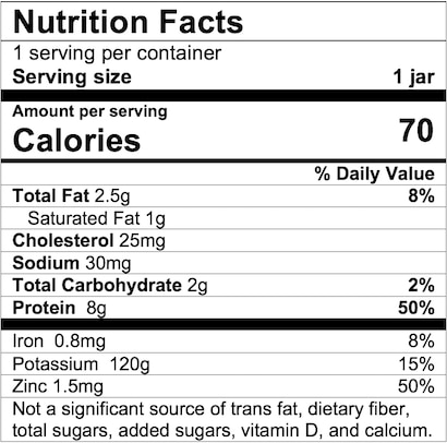 Nutrition Facts Beef and Gravy