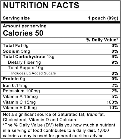 Nutrition Facts Apple Sweet Potato with Cinnamon