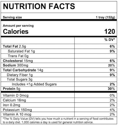 Nutrition Facts Yellow Rice & Chicken with Vegetables in Sauce