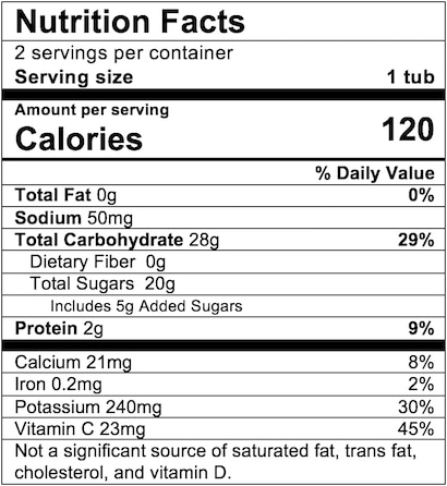 Nutrition Facts Hawaiian Delight