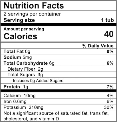 Nutrition Facts Green Bean