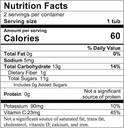 Nutrition Facts Apple Blueberry