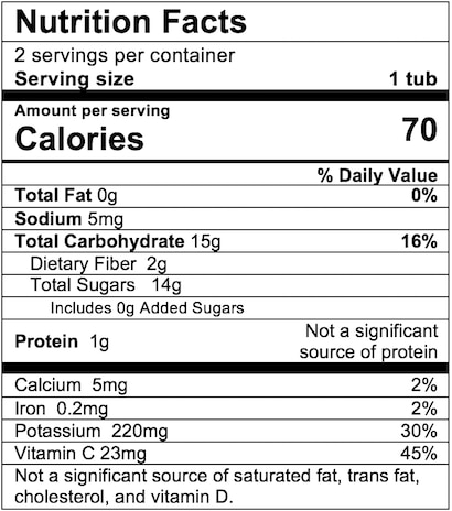 Nutrition Facts Peach