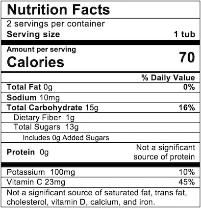 Nutrition Facts Apple Cherry