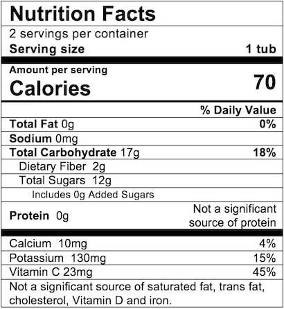 Nutrition Facts Pear Pineapple