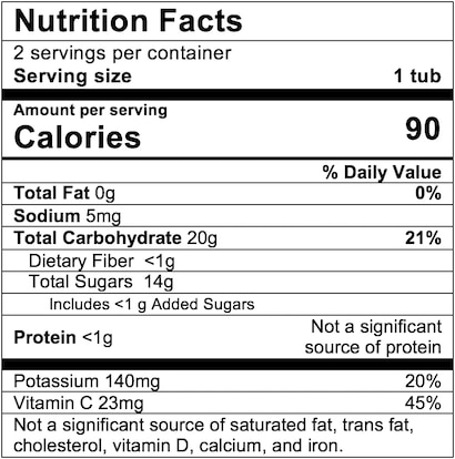 Nutrition Facts Mango Apple Twist