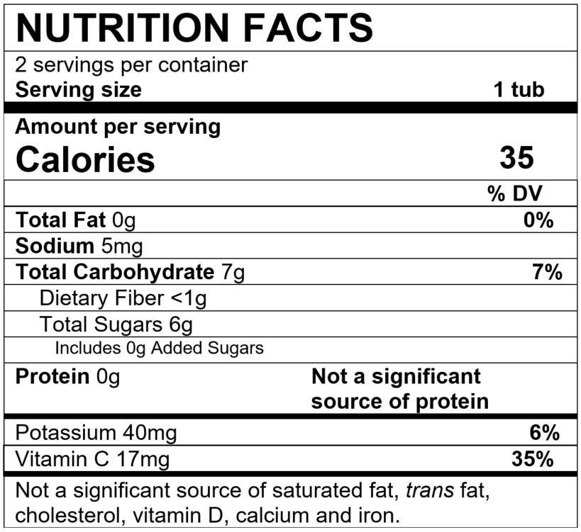 Nutrition Facts Apple
