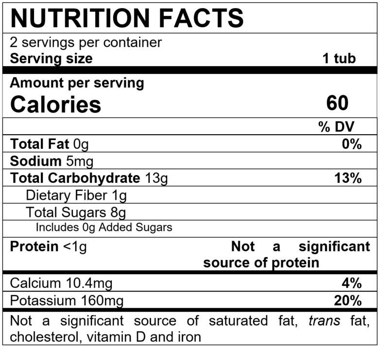 Nutrition Facts Prune