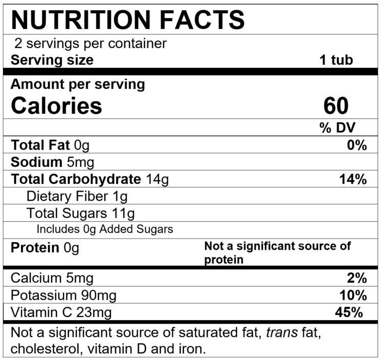 Nutrition Facts Apple Strawberry Rhubarb