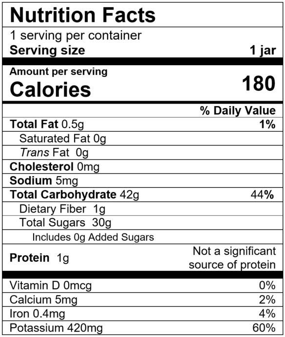 Nutrition Facts Banana Blueberry Rice Pudding