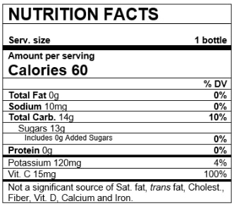 Nutrition Facts Variety Pack Apple