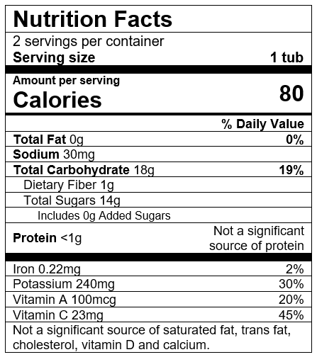 Nutrition Facts Banana Carrot Mango