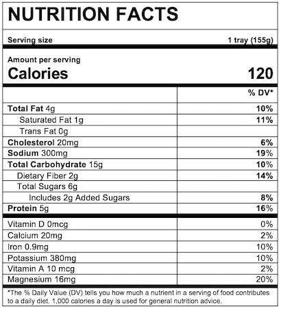 Nutrition Facts Pasta Stars in Meat Sauce