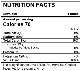 Nutrition Facts Variety Pack Pear