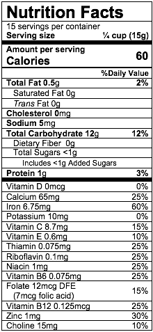 Nutrition Facts Rice
