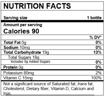 Nutrition Facts Variety Pack Grape