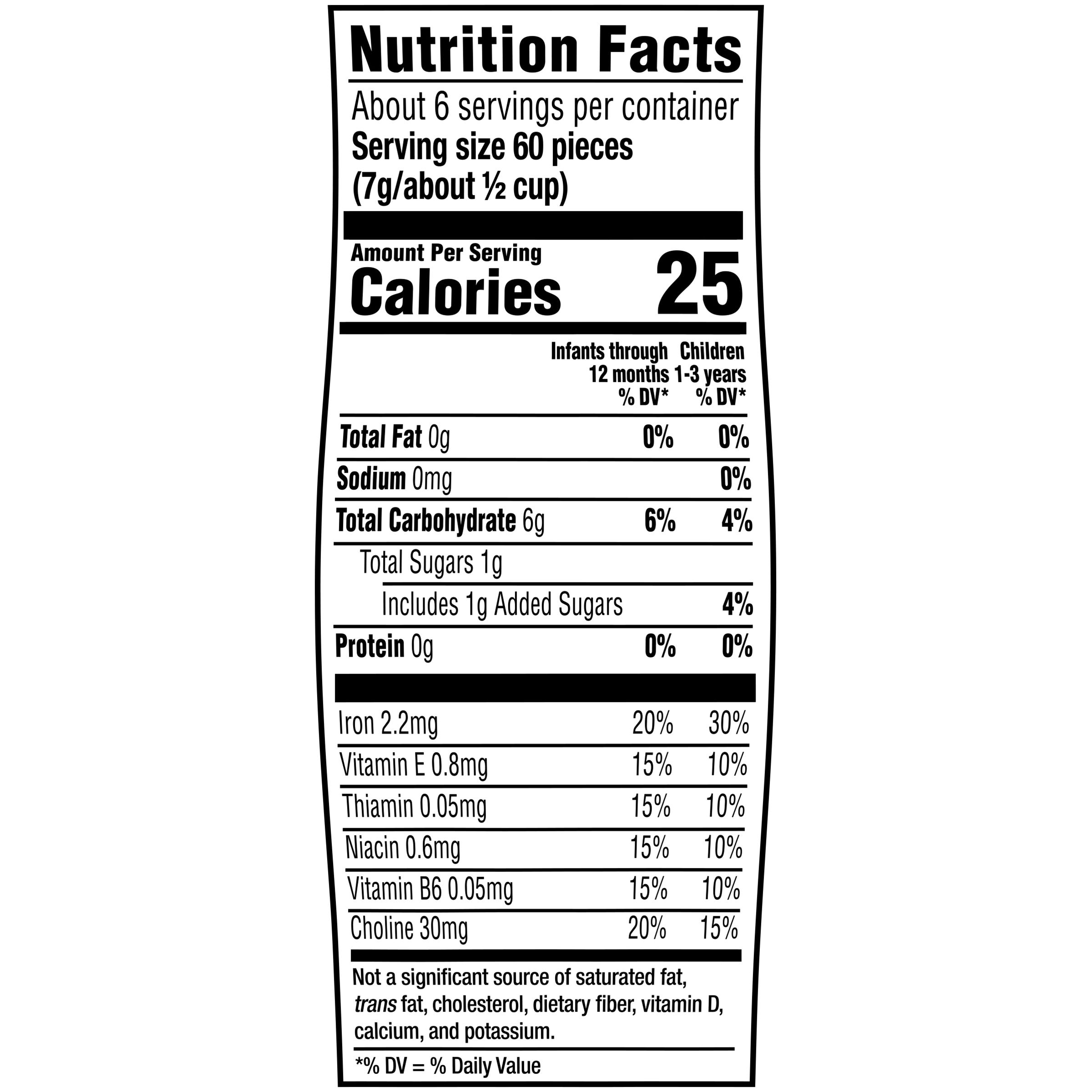 Gerber Strawberry Apple Puffs Nutrition Info