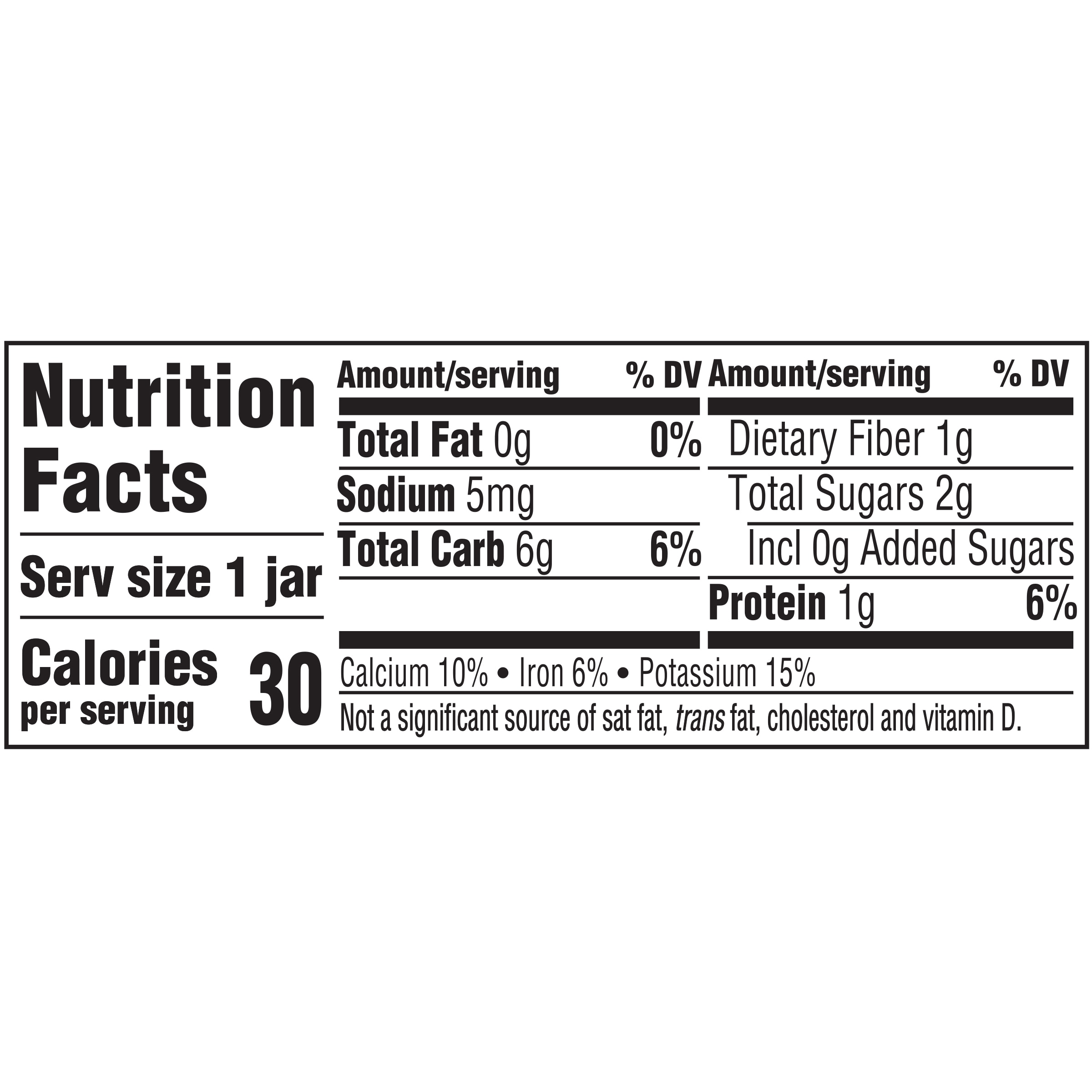 Gerber 1st Foods Natural Green Bean Nutrition Facts