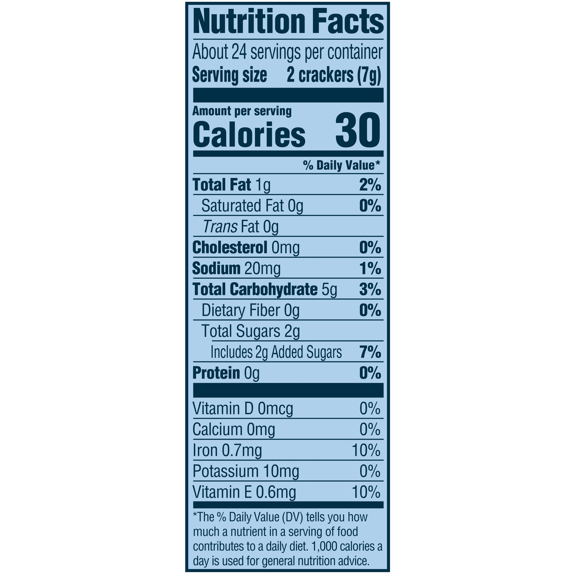 Animal Crackers Nutrition Facts