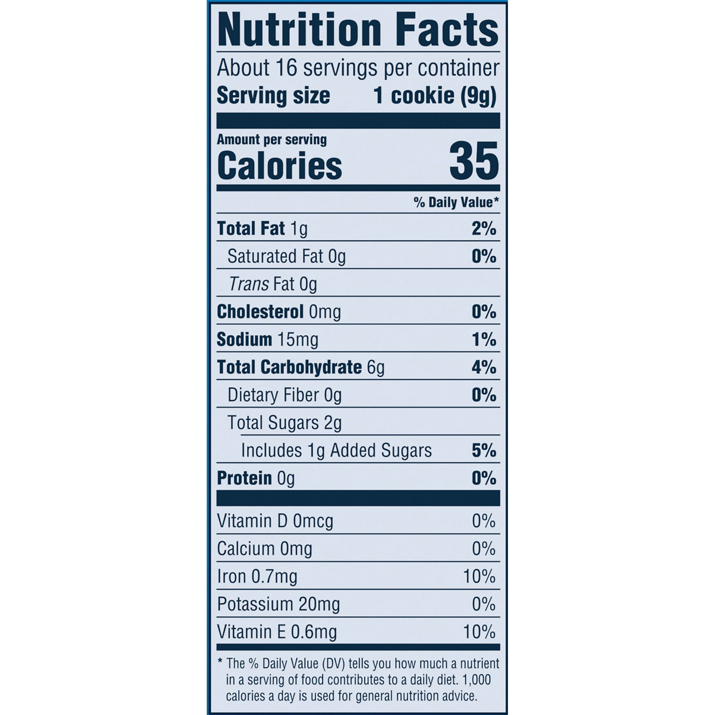 Banana Cookies Nutrition Facts