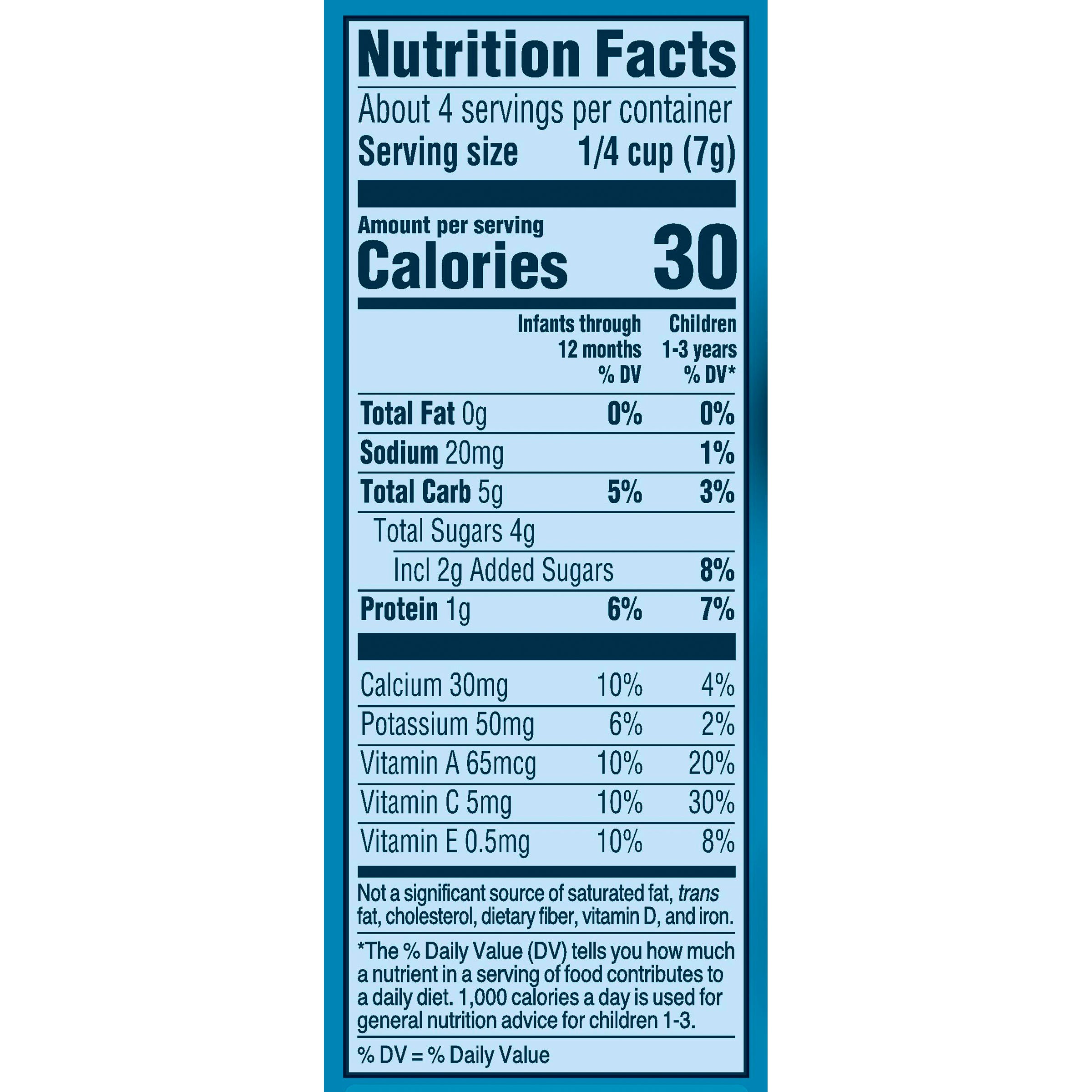 Gerber Strawberry Yogurt Melts Nutrition Facts