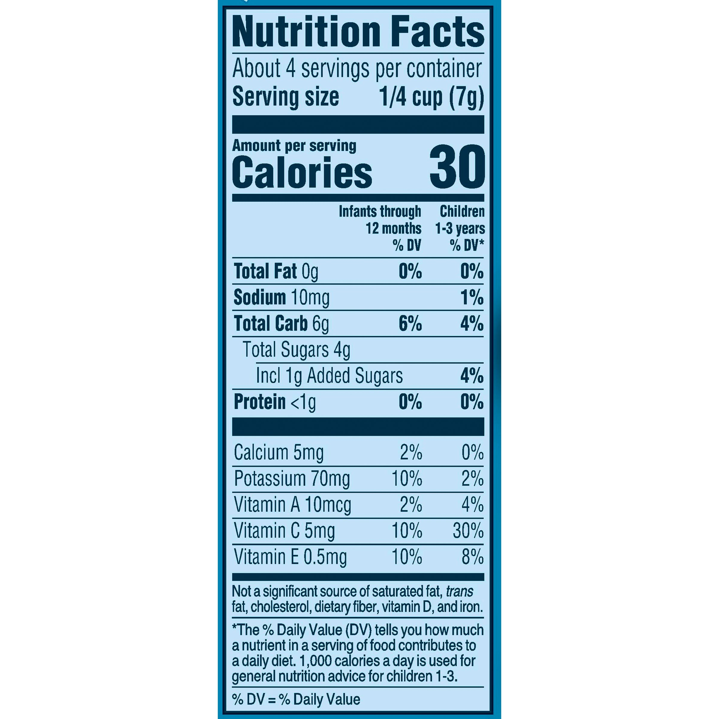 Gerber Very Berry Blend Nutrition Facts