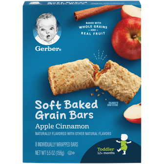 Box of Gerber Apple Cinnamon Soft Baked Grain Bars