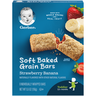 Box of Gerber Strawberry Banana Soft Baked Grain Bars