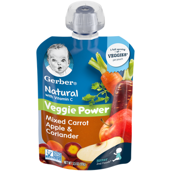 Gerber Mixed Carrot Apple & Coriander Baby FOod Pouch