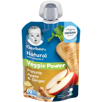 Gerber Natural 2nd Foods® Parsnip Apple & GInger Pouch of baby food