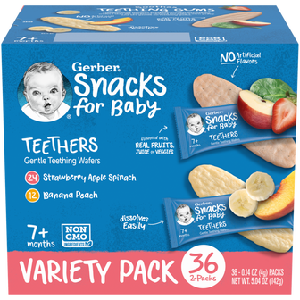 Gerber Teether Wafers Variety Pack