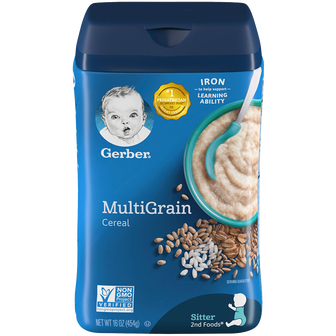 16oz Container of Gerber Multigrain Cereal