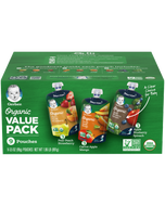 Variety Packs of Gerber Organic 2nd Foods Pouches