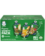Box with a variety of Gerber Organic 2nd Foods Pouches