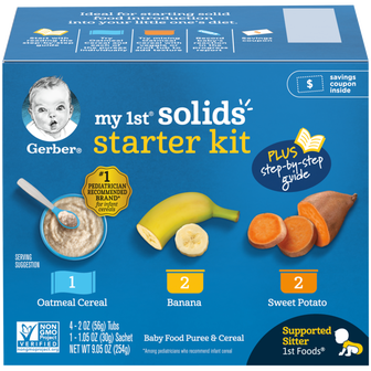 Gerber's My 1st Solids Baby Food Starter Kit