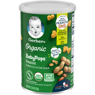 Can of Organic Peanut BabyPops