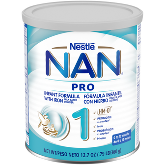 12oz Canister of NAN Pro 1 Infant Formula
