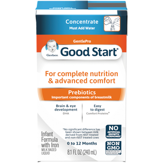 Canister of Gerber Good Start GentlePro Concentrated Liquid Infant Formula