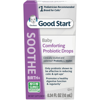 Package of Gerber Probiotic for babies Colic Drops