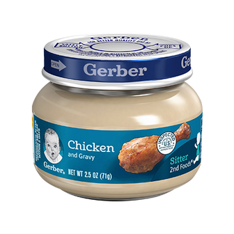 Jar of Gerber 2nd Foods Chicken and Gravy
