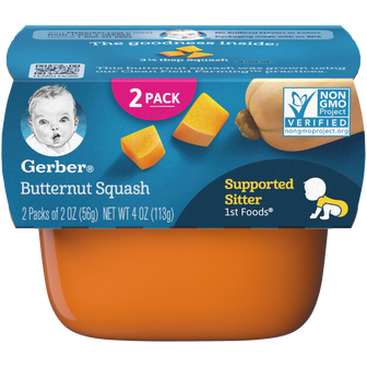 Tub of 1st Foods Butternut Squash Baby Food Puree