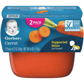 Tub of Gerber 1st Foods Carrot Baby Food