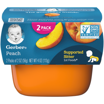 Tub of Gerber 1st Foods Peach Baby Food