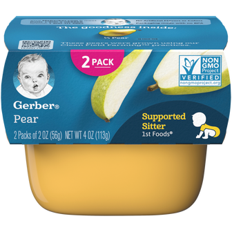 Tub of Gerber 1st Foods Pear Baby Food
