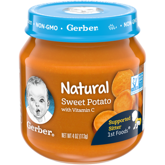 Gerber 1st Natural Foods Sweet Potato Baby Food