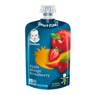 Pouch of Gerber's Apple Mango Strawberry Baby Food