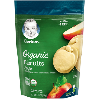 Pouch of Apple Organic Biscuits from Gerber